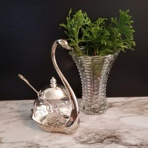 Silver Plated Swan Serving bowl